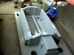 to large machine bases and forklift counterweights